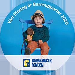 Vi stödjer cancerfonden.